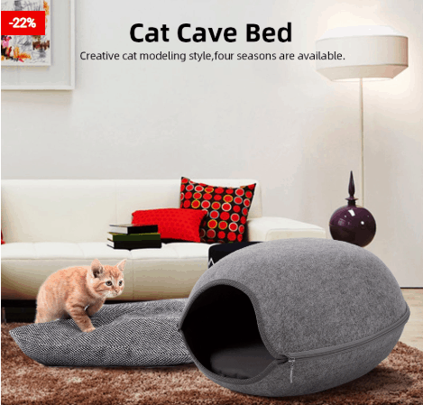 Cat Cave Bed: Accessories For Pets